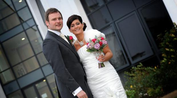 David and Kathy Martin on their wedding day. <p><b>To send us your Wedding Pics <a href=
