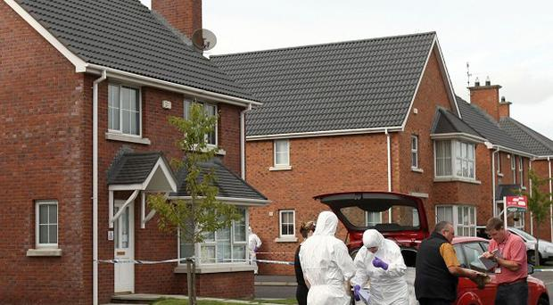 Philip Hull strangled his estranged wife Sharon at her home in the Carnbeg Meadows area of Antrim before killing himself