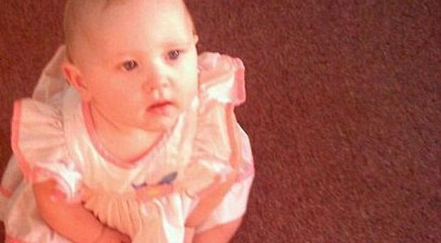 Angel Babcock, 15 months, was found after her family's mobile home was destroyed in the storms