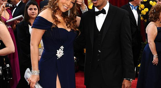 Nick Cannon with wife Mariah Carey