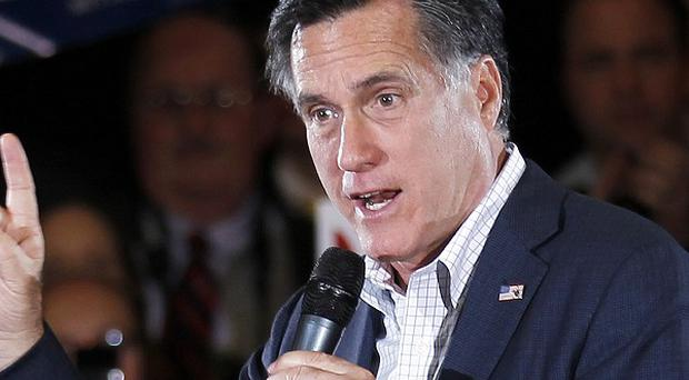Mitt Romney is hoping to stamp his authority on the Republican presidential race with Super Tuesday wins (AP)