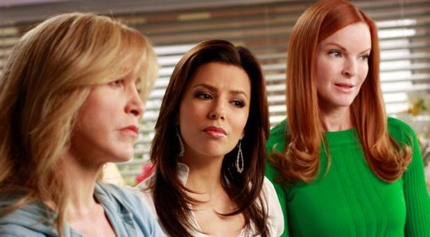 Felicity Huffman, left, Eva Longoria Parker and Marcia Cross, right, are seen in