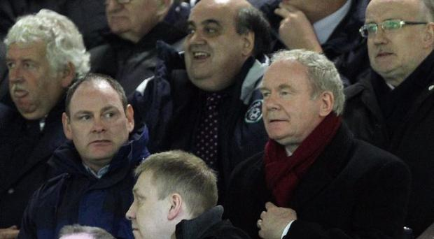 Deputy First Minister Martin McGuinness pictured at  Monday nights Setanta Sports Cup quarter final between Linfield and Derry City at Windsor Park.