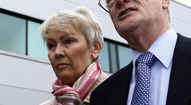 Christopher Tappin, pictured with his wife Elaine before his extradition, has been denied bail by a judge in the US