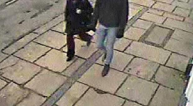 CCTV still of two potential witnesses that police want to talk to after Casey-Lyanne Kearney was stabbed in Doncaster (South Yorkshire Police/PA)