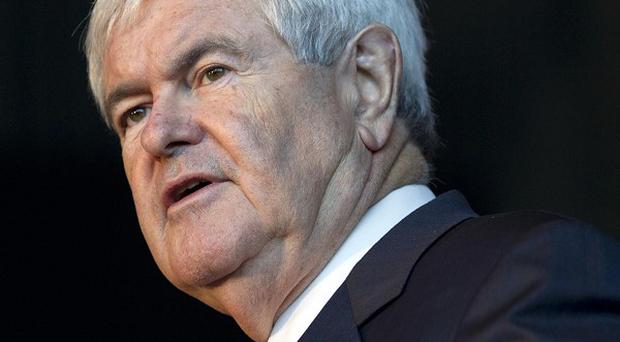 Republican presidential candidate Newt Gingrich speaks at the US Space and Rocket Centre in Huntsville, Alabama (AP/Evan Vucci)