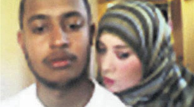 Samantha Lewthwaite and another al-Qaida suspect in the photo taken at the Kenyan border