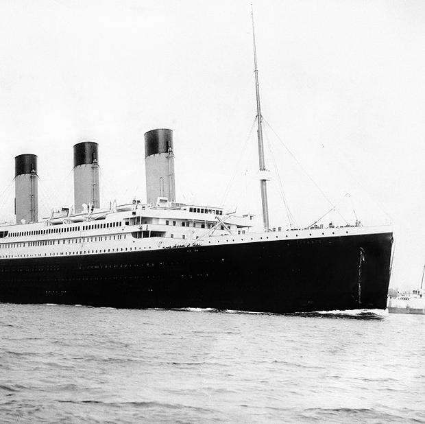 The Titanic sank off Newfoundland on her maiden voyage to the United States after striking an iceberg