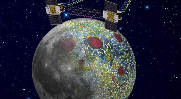 The twin Grail spacecraft mapping the lunar gravity field (AP/Nasa, Jet Propulsion Laboratory)