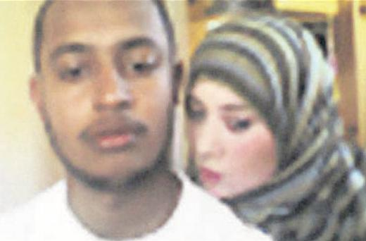 'White Widow': Lewthwaite and another al-Qaida suspect in the photo taken at the Kenyan border
