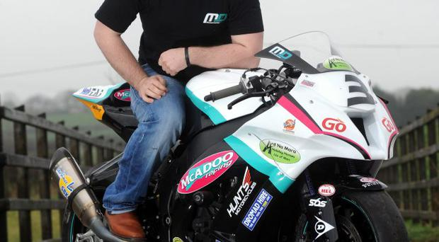 Dream machine: Michael Dunlop with his ZX 10 Kawasaki Superstock bike for the season ahead