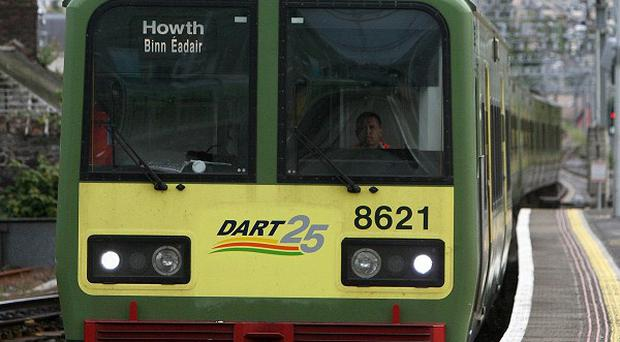 A Dart Train driver has been taken to hospital after warning detonators went off while he was in the front cabin