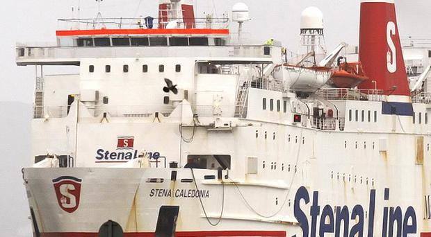 A Stena ferry has been involved in a collision with a vessel at the entrance to Belfast Lough