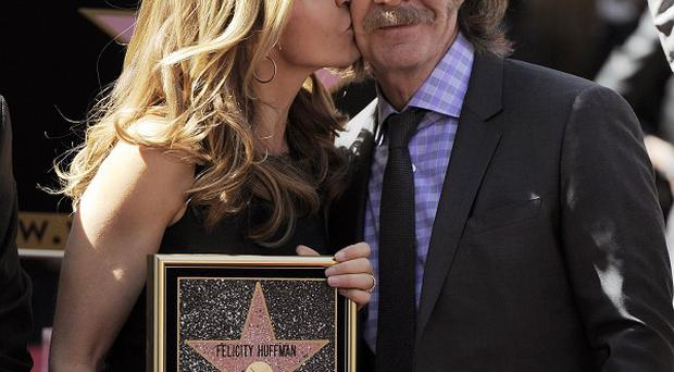 William H Macy and Felicity Huffman both received stars on the Hollywood Walk of Fame