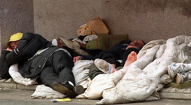 New figures show a 14 per cent increase in the number of households classed as homeless