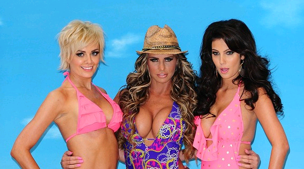 Katie Price launched her swimwear range, but admitted she really wants to be a pop star