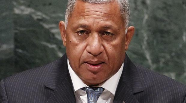 Commodore Frank Bainimarama announced a year-long process for Fijians to discuss and approve a new constitution (AP)
