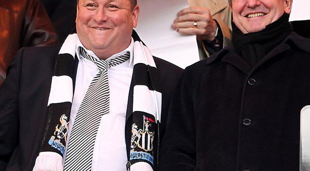Mike Ashley (left) and Derek Llambias (right)