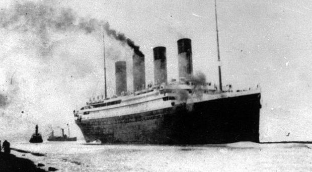The Titanic departs Southampton for her maiden Atlantic Ocean voyage to New York (AP)