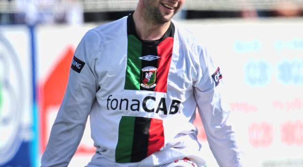 Good old days: Gary Hamilton in Glens colours