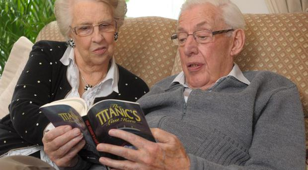 Lord Bannside Ian Paisley relaxes with his wife Eileen at their home in Belfast