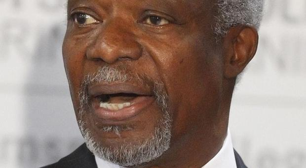 UN envoy Kofi Annan has arrived in Syria to press for an end to the country's year-long conflict