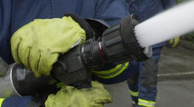 Police are investigating after an oil tank was set on fire at Manor Park in Newtownards