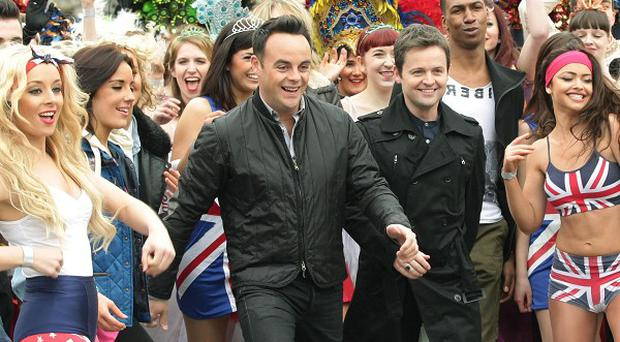 Ant and Dec were joined by a crowd of dancers