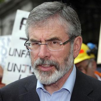 Sinn Fein president Gerry Adams says a poll on the future of the border in Ireland is inevitable