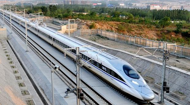 A section of a high-speed railway line has collapsed in central China
