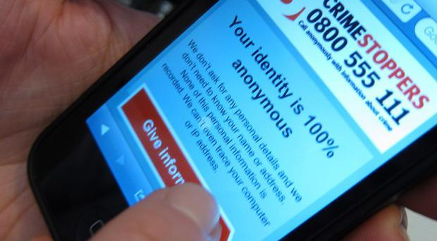 Crimestoppers are using mobile phones to encourage more witnesses to come forward