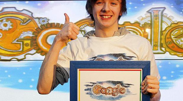 Patrick Horan, from Clonlara, Co Clare, won the fourth annual Doodle 4 Google competition