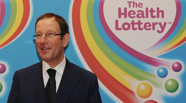 Newspaper proprietor Richard Desmond at the launch of The Health Lottery