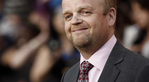Toby Jones plays alongside Jennifer Lawrence in Hunger Games