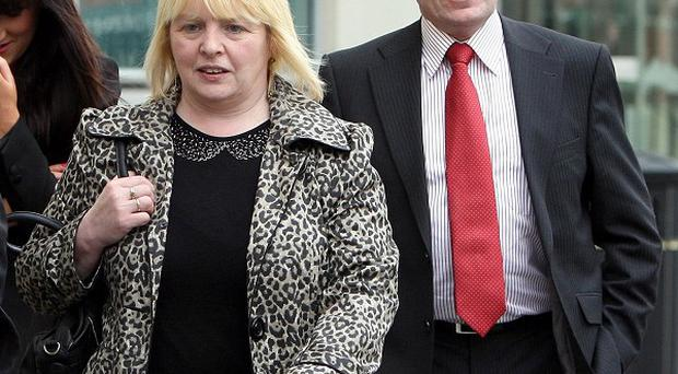 Sally Gribben, sister of Martin McCaughey, and Philip O'Neill, brother in law of Dessie Grew