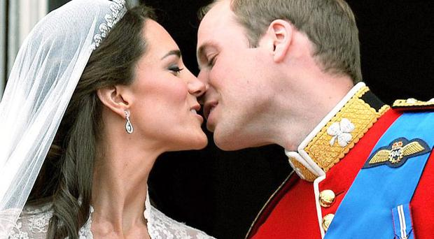 Essential viewing: William and Kate's wedding kiss