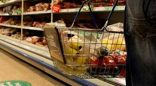 Money spent on groceries has dropped, according to new figures