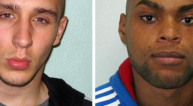 Reece Donovan, 24, (left) and John Kafunda 22, posed as Good Samaritans before robbing a defenceless Malaysian student