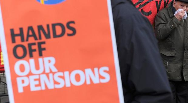 Support for industrial action over pension reforms has increased among public sector staff, a survey found