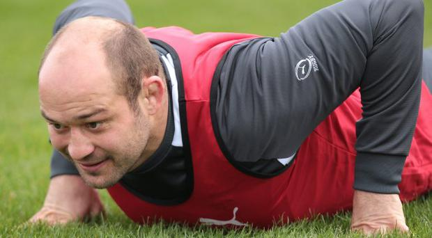 Familiar foes: Rory Best becomes Ireland's most-capped hooker today when he leads the side out against England