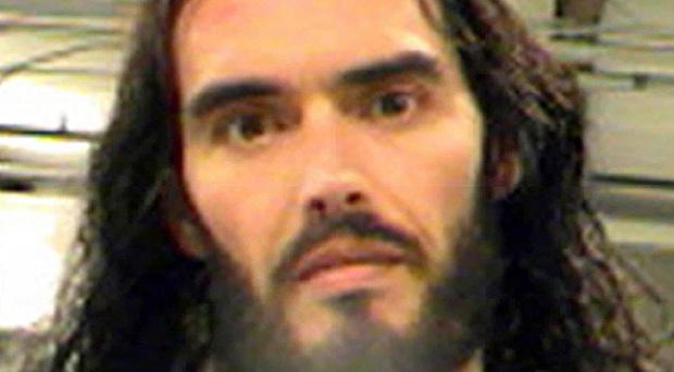 Russell Brand, taken after he was booked in New Orleans (AP)