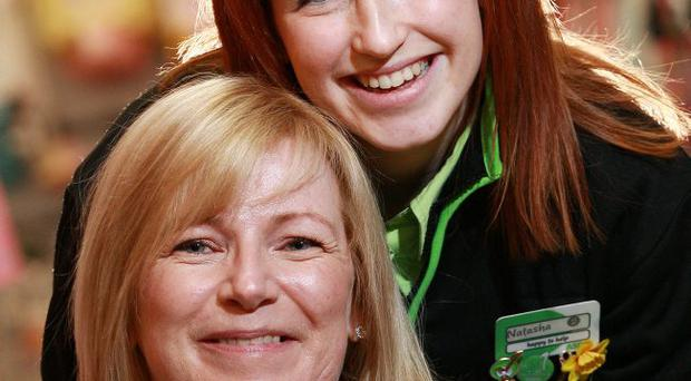 Natasha Strain and her mum Karen Strain work together at Asda