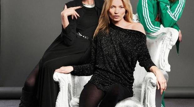 Kate Moss teamed up with Eddie and Patsy for the Sport Relief Ab Fab special