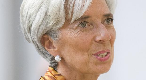 Still fearful: IMF boss Christine Lagarde was cautious in her assessment
