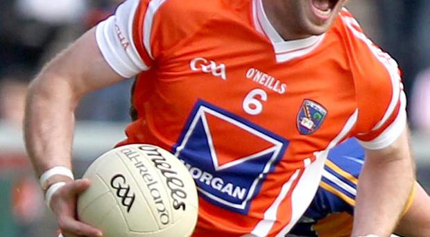 Seeing red: Ciaran McKeever was subjected to racist abuse, claim Armagh officials