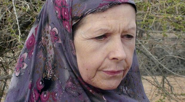 British tourist Judith Tebbutt, who was snatched by Somali gunmen, has been released (AP)