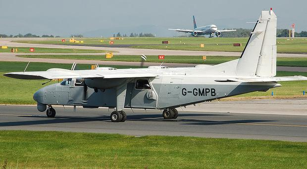 Britten-Norman BN-2T-4S Defender 4000. Photo by Arpingstone