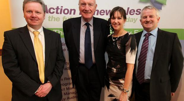 Noel Bell (Northern Ireland Environment Agency), Andy Bready (Travelwise NI), Dawn Murphy (Action Renewables) & Michael Lindsay (Travelwise NI)