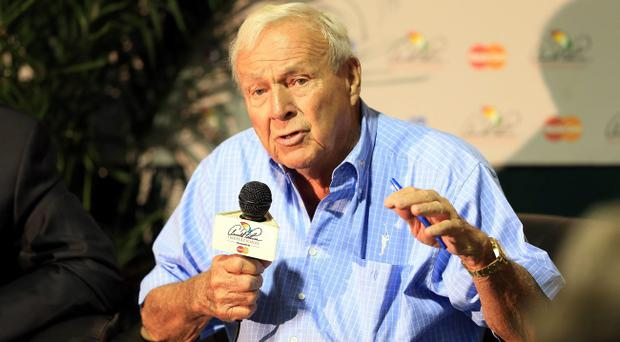 ORLANDO, FL - MARCH 21: Arnold Palmer of the USA in his media conference during the pro-am as a preview for the 2012 Arnold Palmer Invitational presented by MasterCard at Bay Hill Club and Lodge on March 21, 2012 in Orlando, Florida. (Photo by David Cannon/Getty Images)