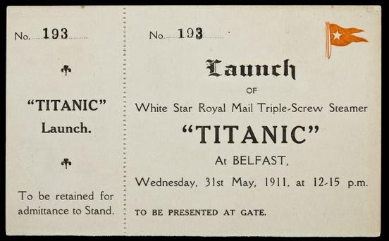 The Titanic launch ticket that's going up for auction in New York